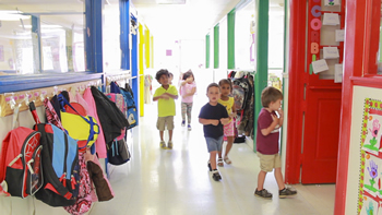 children between preschool classes in Okeechobee, FL